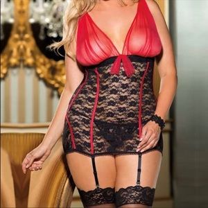 Other - Plus size lingerie G String Included 2 Color Avail